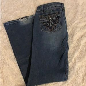Harley Davidson embellish jeans